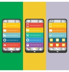 Set mobile elements vector image