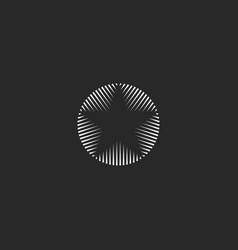 star logo of lines geometric shape monogram vector image