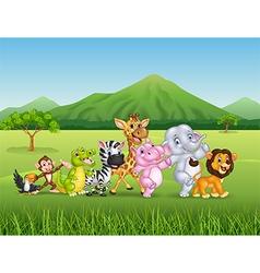 Wild animal cartoon vector image vector image