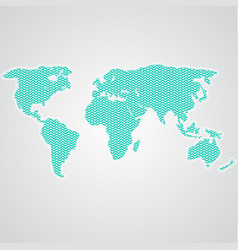world map isolated on a background vector image