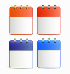 blank sheet of calendar icon in four variants vector image