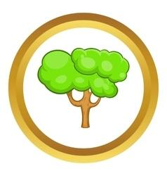 Green tree icon vector image vector image