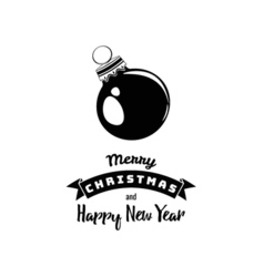 Merry Christmas and Happy New Year Card Art vector image