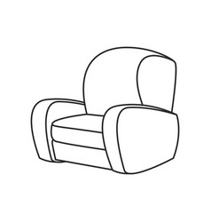 sofa chair furniture image outline vector image vector image