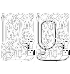 Vampire maze vector image vector image