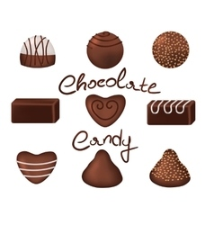 Chocolate candies set vector image
