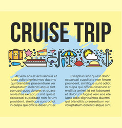 cruise trip information list vector image vector image