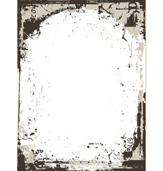 grunge border vector image vector image