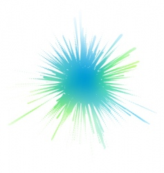 watery ink splash vector image