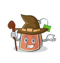 Witch tea bag character cartoon art vector