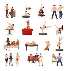 exotic dancer icon set vector image