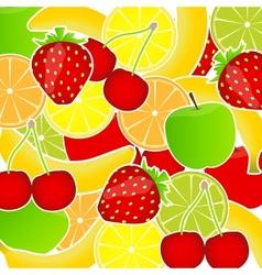 Fresh fruits background vector image
