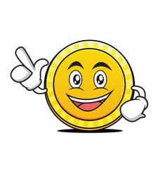have an idea coin cartoon character vector image