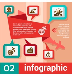 infographic concept travel vector image vector image
