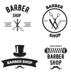 Set of vintage barber shop emblems label badges vector image vector image