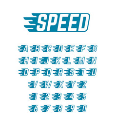speed flying alphabet fast symbols vector image vector image