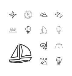 13 adventure icons vector