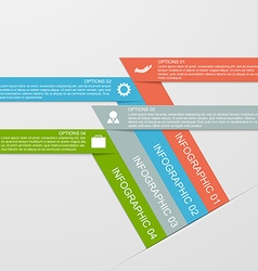 Abstract infographic chart with a paper ribbons vector image