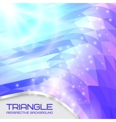Abstract triangle wave background going to the vector