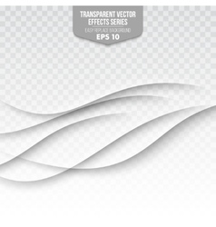 Abstract wave isolated on transparent background vector image