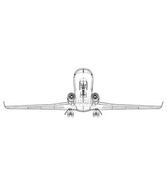 Airplane blueprint vector