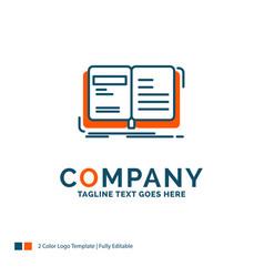 Author book open story storytelling logo design vector
