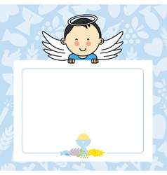 Baby boy with wings vector image