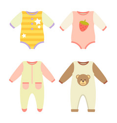 Baby clothes jumpers set vector