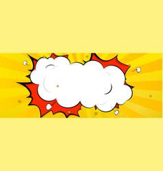 Background in cartoon comics book style speech vector