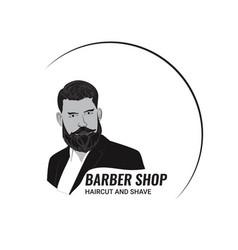 Barbershop mens style vector