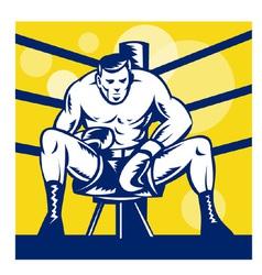 Boxer sitting on corner vector