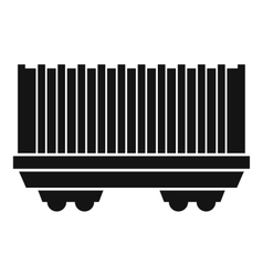 Cargo wagon icon simple style vector