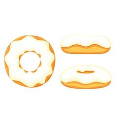 colorful cartoon donut set vector image