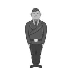 Combat soldiers icon black monochrome style vector