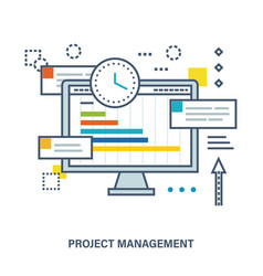 Concept of project management vector