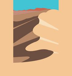 Desert dune sand vector
