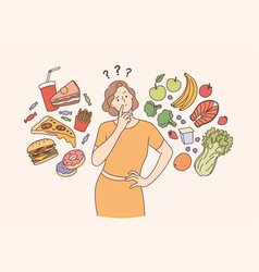 Dieting healthy lifestyle weight loss concept vector