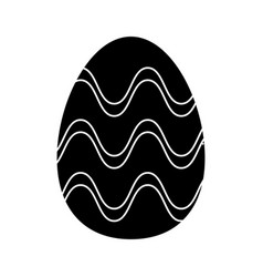 Easter egg ornament celebration pictogram vector