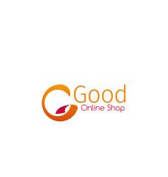 emblem for online shop vector image