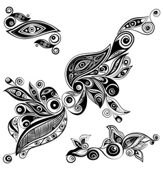 Ethnic ornament elements vector image