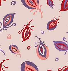 Feathers on pink pattern vector