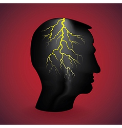 flash light in the head vector image