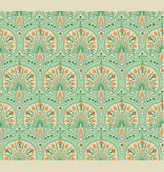 floral seamless fabric pattern flourish tiled vector image