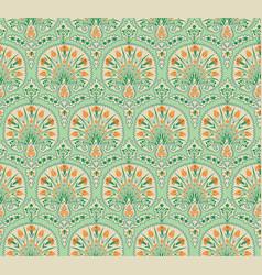 Floral seamless fabric pattern flourish tiled vector