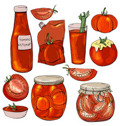 food made of red tomatoes vector image