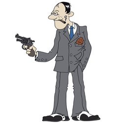 Funny gangster vector image
