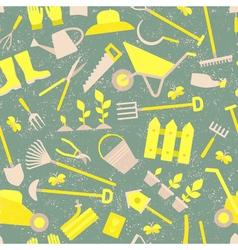Gardening pattern set vector image