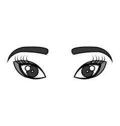 Geisha eyes view icon vector