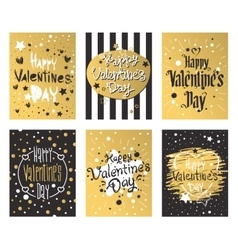 Happy valentines day and weeding cards design vector