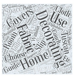 Home decorating fabrics word cloud concept vector
